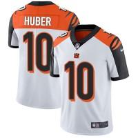 Nike Cincinnati Bengals #10 Kevin Huber White Men's Stitched NFL Vapor Untouchable Limited Jersey