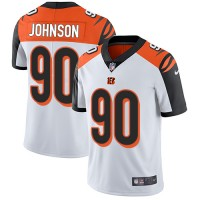 Nike Cincinnati Bengals #90 Michael Johnson White Men's Stitched NFL Vapor Untouchable Limited Jersey