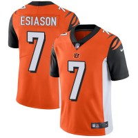Youth Nike Cincinnati Bengals #7 Boomer Esiason Orange Alternate Stitched NFL Vapor Untouchable Limited Jersey