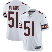 Nike Chicago Bears #51 Dick Butkus White Men's Stitched NFL Vapor Untouchable Limited Jersey