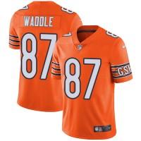 Nike Chicago Bears #87 Tom Waddle Orange Men's Stitched NFL Limited Rush Jersey