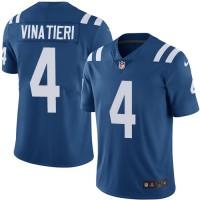 Nike Indianapolis Colts #4 Adam Vinatieri Royal Blue Team Color Men's Stitched NFL Vapor Untouchable Limited Jersey