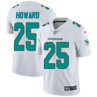 Nike Miami Dolphins #25 Xavien Howard White Men's Stitched NFL Vapor Untouchable Limited Jersey