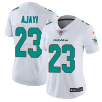 Women's Nike Miami Dolphins #23 Jay Ajayi White Stitched NFL Vapor Untouchable Limited Jersey