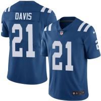 Youth Nike Indianapolis Colts #21 Vontae Davis Royal Blue Team Color Stitched NFL Vapor Untouchable Limited Jersey