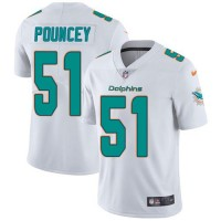 Youth Nike Miami Dolphins #51 Mike Pouncey White Stitched NFL Vapor Untouchable Limited Jersey