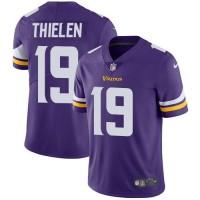 Youth Nike Minnesota Vikings #19 Adam Thielen Purple Team Color Stitched NFL Vapor Untouchable Limited Jersey