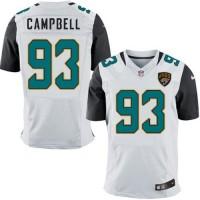 Nike Jacksonville Jaguars #93 Calais Campbell White Men's Stitched NFL Elite Jersey