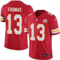 Nike Kansas City Chiefs #13 De'Anthony Thomas Red Team Color Men's Stitched NFL Vapor Untouchable Limited Jersey