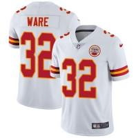 Nike Kansas City Chiefs #32 Spencer Ware White Men's Stitched NFL Vapor Untouchable Limited Jersey