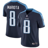 Nike Tennessee Titans #8 Marcus Mariota Navy Blue Alternate Men's Stitched NFL Vapor Untouchable Limited Jersey