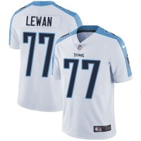 Nike Tennessee Titans #77 Taylor Lewan White Men's Stitched NFL Vapor Untouchable Limited Jersey