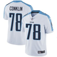 Nike Tennessee Titans #78 Jack Conklin White Men's Stitched NFL Vapor Untouchable Limited Jersey
