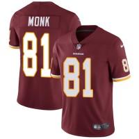 Nike Washington Redskins #81 Art Monk Burgundy Red Team Color Men's Stitched NFL Vapor Untouchable Limited Jersey