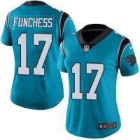 Women's Nike Carolina Panthers #17 Devin Funchess Blue Alternate Stitched NFL Vapor Untouchable Limited Jersey