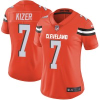 Women's Nike Cleveland Browns #7 DeShone Kizer Orange Alternate Stitched NFL Vapor Untouchable Limited Jersey
