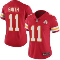 Women's Nike Kansas City Chiefs #11 Alex Smith Red Team Color Stitched NFL Vapor Untouchable Limited Jersey