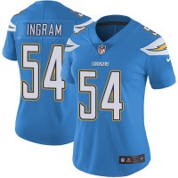 Women's Los Angeles Chargers #54 Melvin Ingram Electric Blue Alternate Stitched NFL Vapor Untouchable Limited Jersey