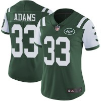 Women's Nike New York Jets #33 Jamal Adams Green Team Color Stitched NFL Vapor Untouchable Limited Jersey