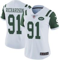 Women's Nike New York Jets #91 Sheldon Richardson White Stitched NFL Vapor Untouchable Limited Jersey