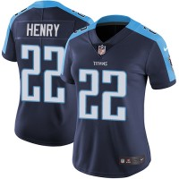 Women's Nike Tennessee Titans #22 Derrick Henry Navy Blue Alternate Stitched NFL Vapor Untouchable Limited Jersey