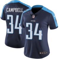 Women's Nike Tennessee Titans #34 Earl Campbell Navy Blue Alternate Stitched NFL Vapor Untouchable Limited Jersey