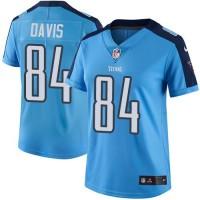 Women's Nike Tennessee Titans #84 Corey Davis Light Blue Team Color Stitched NFL Vapor Untouchable Limited Jersey
