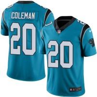 Youth Nike Carolina Panthers #20 Kurt Coleman Blue Alternate Stitched NFL Vapor Untouchable Limited Jersey