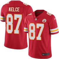Youth Nike Kansas City Chiefs #87 Travis Kelce Red Team Color Stitched NFL Vapor Untouchable Limited Jersey