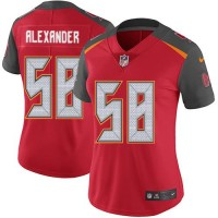 Women's Nike Tampa Bay Buccaneers #58 Kwon Alexander Red Team Color Stitched NFL Vapor Untouchable Limited Jersey