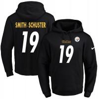 Men's Nike Pittsburgh Steelers #19 JuJu Smith-Schuster Black Name & Number Pullover NFL Hoodie