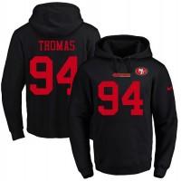 Men's Nike San Francisco 49ers #94 Solomon Thomas Black Name & Number Pullover NFL Hoodie