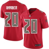 Nike Tampa Bay Buccaneers #20 Ronde Barber Red Men's Stitched NFL Limited Rush Jersey