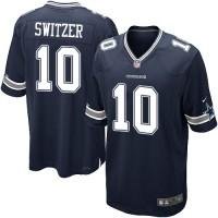 Men's Nike Dallas Cowboys #10 Ryan Switzer Game Navy Blue Team Color NFL Jersey