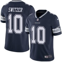Youth Nike Dallas Cowboys #10 Ryan Switzer Navy Blue Team Color Vapor Untouchable Limited Player NFL Jersey