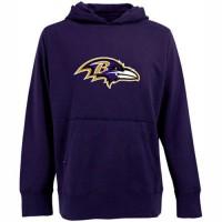 Antigua Baltimore Ravens Signature Pullover Hoodie Purple