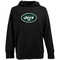 Antigua New York Jets Signature Pullover Hoodie Black