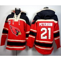 Arizona Cardinals #21 Patrick Peterson Red Sawyer Hooded Sweatshirt NFL Hoodie