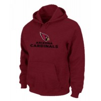 Arizona Cardinals Authentic Logo Pullover Hoodie Red