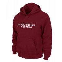 Atlanta Falcons Authentic Font Pullover Hoodie Red