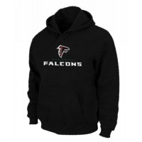 Atlanta Falcons Authentic Logo Pullover Hoodie Black