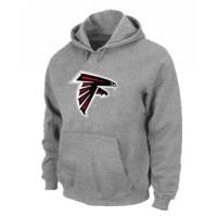 Atlanta Falcons Logo Pullover Hoodie Grey