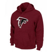 Atlanta Falcons Logo Pullover Hoodie Red