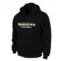 Baltimore Ravens Authentic Font Pullover Hoodie Black