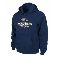 Baltimore Ravens Critical Victory Pullover Hoodie Dark Blue
