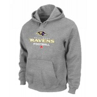Baltimore Ravens Critical Victory Pullover Hoodie Grey