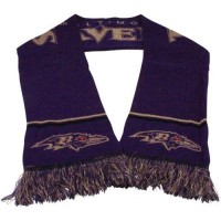 Baltimore Ravens Ladies Metallic Thread Scarf Purple