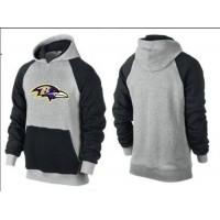 Baltimore Ravens Logo Pullover Hoodie Grey & Black