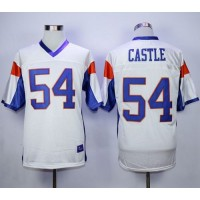 Blue Mountain State #54 Thad Castle White Stitched Football Jersey