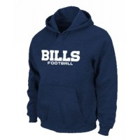 Buffalo Bills Authentic Font Pullover Hoodie Dark Blue